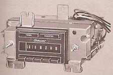 1971 LINCOLN 1blss radio service manual power antenna PHOTOFACT