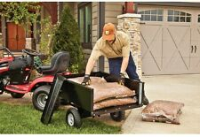 10 cu. ft. Steel Dump Cart Garden Yard Lawn Mower Tractor Trailer Attachment