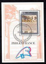 0115+  NICARAGUA  BLOC  PHILEXFRANCE  1989