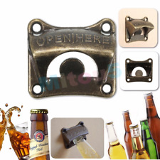 Bronze Vintage Wall Mount Open Wine Beer Soda Glass Cap Bars Club Bottle Opener