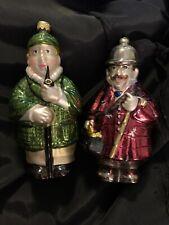 New ListingSherlock Holmes & Dr Watson Kurt Adler Polonaise Handcraft Blown Glass Ornaments