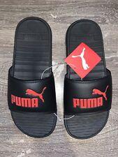 NWT Sz 8 PUMA Men's Popcat Slide Sandal Black/Red