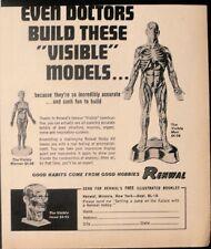 1963 Renwal Visible Man~Women Head Doctors Model Toy Kit Trade Promo Print Ad
