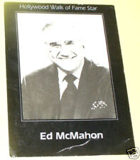 Ed McMahon - Hollywood Walk of Fame 1960s PostCard