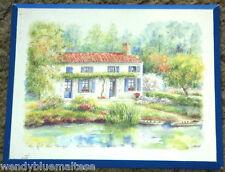 Au Fil du Temps by Danielle Lebeau Block Mounted Print Signed By Artist 30x24cm