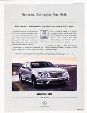 2007 Mercedes Benz E63 AMG - more advanced - Vintage Advertisement Ad A19-B