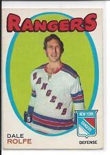 1971-72 OPC OPEECHEE Dale Rolfe #219 - no crease