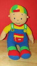 """plush Caillou cuddle learning doll fleece soft learn snap button zip 19"""""""
