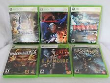 Xbox 360 Game Lot of 6 Wolfenstein Sacred 2 Bioshock LA Noire Devil May Cry 4