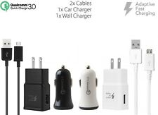 Adaptive Fast QC 3.0 Car+2.0A Home Charger with 2 x Micro USB Cables for Samsung