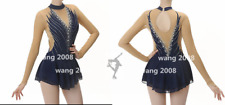 Stylish Ice skating dress Baton Twirling Competition Figure Skating Dress black