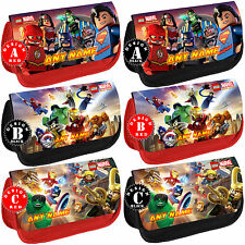 LEGO SUPER HEROES Personalised Pencil Case School Name Gift Bag Marvel Avengers