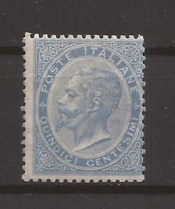 Regno 1863/65 De La Rue Londra Effigie V.E II 15 cent L18 S.G. MLH* firma Biondi