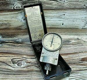 Vintage Manual Magnetic Tachometer IO-30 Old tool measuring speed shaft motor