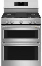 """Ge Cafe Cgb550P2Ms1 30"""" Stainless Steel Freestanding Gas Range with 5 Burners"""