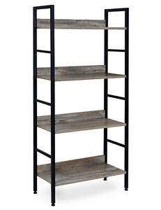 4 Tier Display Bookcase Storage Unit Utility Book Shelf Storage Display Shelf
