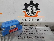 "GEMCO 2000-3B Rotary Limit Switch 30:1 Ratio 1/2"" Dia. Shaft Used With Warranty"