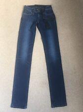 Nuevo Para mujeres Levis Revel tiro bajo recto Stretch Jeans W23 L34 (1196)