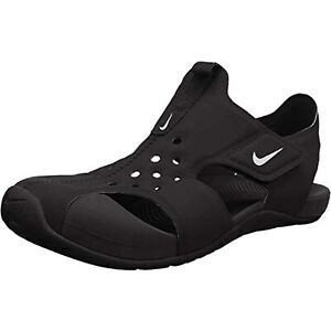 Nike Kids Sunray Protect 2 (PS) Sandals Black White Size 12