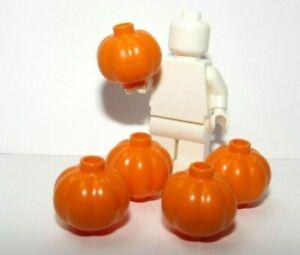 Lego 5 Plain Orange Pumpkin   Minifigure Not Inc Halloween Trick Or Treat