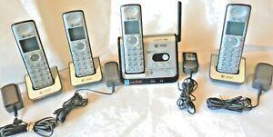 AT&T CL82309 DECT 6.0 CORDLESS EXPANSION MAIN BASE & 3 CL82409 PHONES 84309 801