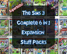 The Sims 3 Complete 6 in 1 Expansion Stuff Packs Origin Download Region Free