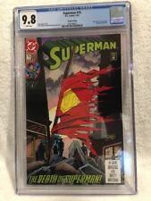 SUPERMAN #75 (1993) CGC 9.8 NM/MT - 4th Print RARE - Death