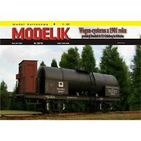 ORIGINAL PAPER-CARD MODEL KIT - Tank wagon KPEV from 1901