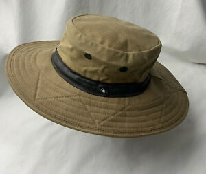 Watership Trading Waxed Canvas Wide Brim Hat Men's Size Large Made in USA