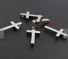 6pcs Lot Stainless Steel High Polished Huge Cross Pendant Charms Jewelry Finding