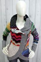 DESIGUAL Donna Taglia M Maglione Lana Sweater Pullover Maglietta Pull Maglia