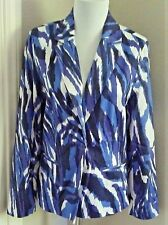 CHICO'S - PURPLE/MULTI COLORED LONG SLEEVE BLAZER STYLE JACKET - CHICO'S SIZE 0