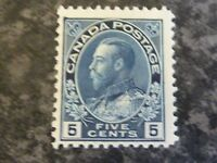 CANADA POSTAGE STAMP SG206 FIVE CENTS INDIGO LIGHTLY MOUNTED MINT