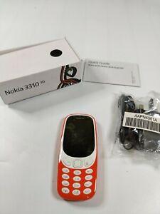 Nokia 3310 3G Warm Red Colour Dual Sim Unlocked UK Stock