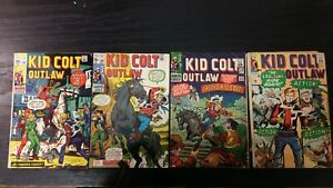 1965 MARVEL COMIC LOT OF (4) KID COLT OUTLAW #120-148 LOW-GRADE WESTERN COWBOY