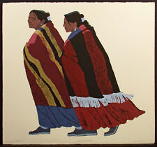 """Louis De Mayo """"Conversation"""" Hand Signed Fine Art Serigraph Limited Edition, OBO"""