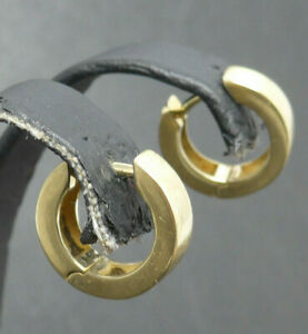 Ohrringe earrings 585 GOLD 14 Karat boucle oreille Kreolen Creolen orecchino