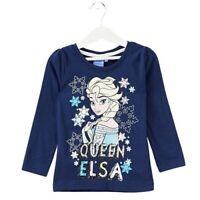Frozen maglietta manica lunga elsa t-shirt bambina girl disney