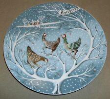 Three French Hens Plate By Limoges, Haviland R H'etreau 1972 #3