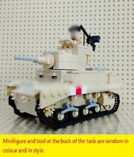 WWII US British UK M3 M3A1 Stuart Light Tank World War 2 WW2 USA MOC Africa