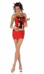 Sexy 4pc Devil Girl Costume Stripper Exotic Dancer - SALE ITEM