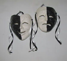 Half Black & White X-Large Italian Comedy / Tragedy Face Mask Wall Hanging Decor
