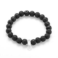 Authentic Black Lava Gemstone Charm Bracelet by Philip Jones