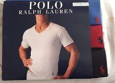 Authentic Polo Ralph Lauren Classic Fit Three Cotton V- Necks Size  L