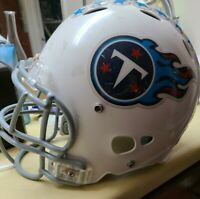 Medium White Youth Riddell Titans Football Helmet with face mask