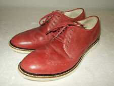 Cole Haan Air Franklin Red Leather Wingtip Derby Shoes C11593 Men Size 9.5 M