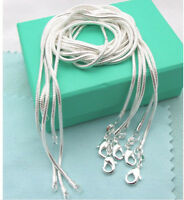 """wholesale 925sterling solid Silver 5PCS X 2mm snake chain Necklace 16-24"""""""
