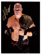 Autographed Kane Photo, Belt No Mask WWE WWF Promo Signed