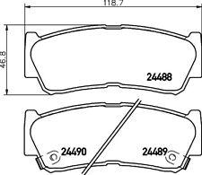 Mintex Freno Trasero Pad Set MDB2855-Totalmente Nuevo-Original - 5 Año De Garantía