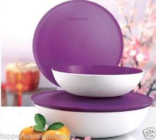 New Tupperware Allegra Duo Bowls 1.5L 3.5L Purple